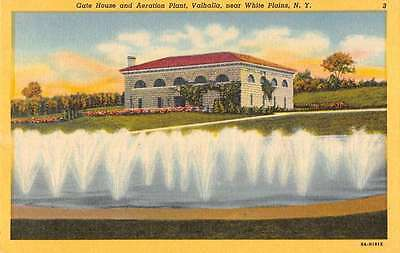 White Plains New York Balhalla Gate House Fountains Antique Postcard K35196