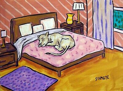 cheetah sleeping bedroom art PRINT 8x10 reproduction of painting signed JSCHMETZ