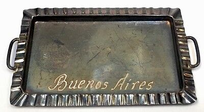 Antique 900 Silver Doll House Miniature Tray Buenos Aires Vintage Small European