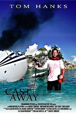"""Cast Away"".2 Tom Hanks..Helen Hunt...Classic Movie Poster A1A2A3A4Sizes"