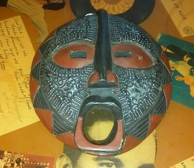Vintage African Congo Wall Hanging Decorative Mask Tribal Art 11.5""