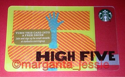 """Starbucks Us Gift Card """"high Five"""" 2015 New No Value 48 Series 6113"""
