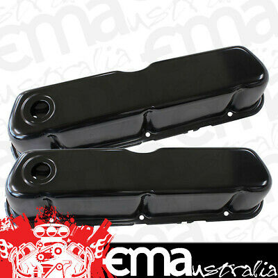 Aeroflow Black Steel Valve Covers Af1822-5052 Suit Ford 289-351W Without Logo