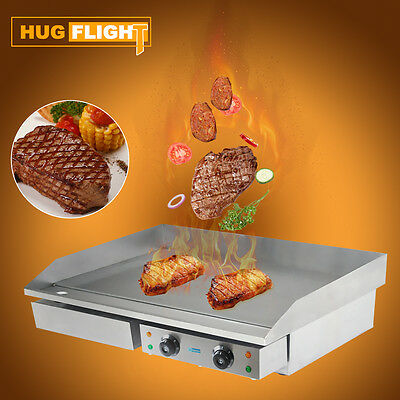 Hug Flight Electric Griddle Stainless Steel Counter Top Flat Hotplate 73cm