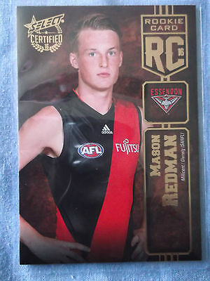 2016 Select Certified Rookie Card  Essendon Bombers Mason Redman  Rc30  #164