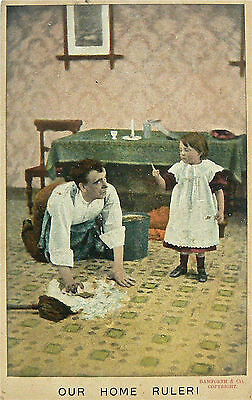 POSTCARDS.COMIC.OUR HOME RULER.BAMFORTH.EARLY 1900's