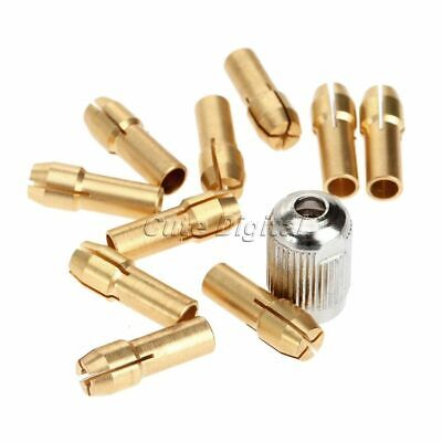10Pcs Brass Collets 4.8mm Shank with M8x0.75mm Electric Mill Shaft Screw Cap Set