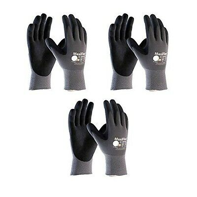 Maxiflex 34-874 Ultimate Nitrile Grip Work Gloves, Small-X-Large(Large), 3 Pair