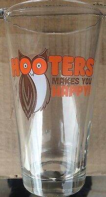 New Hooters Makes You Happy! Pint Beer Glass. I Have Many! Free Shipping