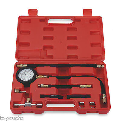 CAR FUEL SYSTEM INJECTION PUMP PRESSURE TESTER DETECTOR TEST KIT with GAUGE NEW