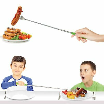 TELESCOPIC FORK - Fun Metal Long Cutlery BBQ Marshmellows **FREE DELIVERY**