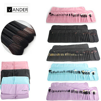 Vander Professional 32Pcs Makeup Brushes Set Eyebrow Shadow Face Kit + Pouch Bag