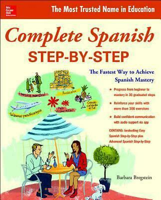 Complete Spanish Step-By-Step by Barbara Bregstein (English) Paperback Book Free