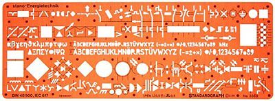 Electrical and Electronic Installation Symbols Drawing Template Stencil – – Plan