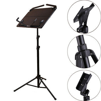 Adjustable Music CONDUCTOR Stand Sheet Metal Tripod Holder Folding Stage Black