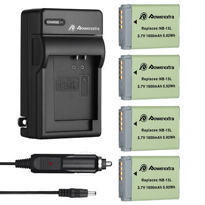 NB-13L NB13L Battery Charger for Canon PowerShot G5X G7X G7 X G9X SX620 HS SX720