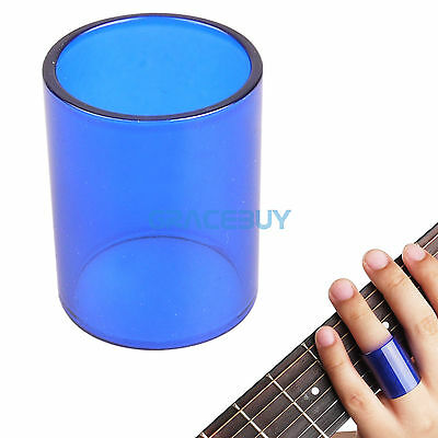 Guitar Glass Slides Tone Bar String Slide Blue for Acoustic Electric Guitar Bass