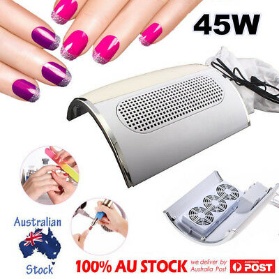 45000mp 3 Fans Dust Collector  Nail Art Machine Manicure Tools Vacuum Cleaner OZ
