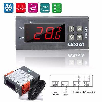 Mini 220V Digital LCD Temperature Controller Thermostat Kühlung Heizung Schalter