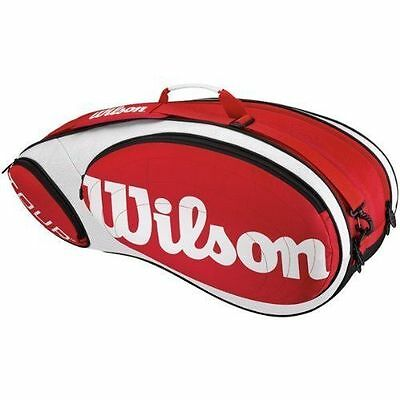 Wilson Tour 12 Pack Racquet Bag White and Red