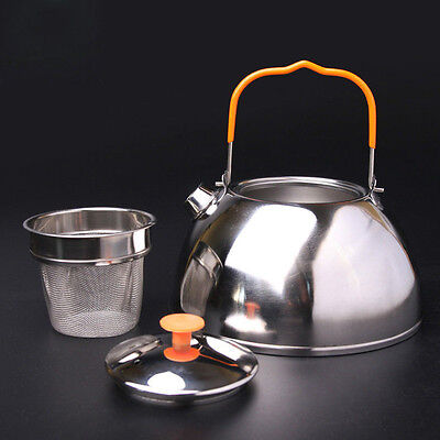 0.6L Outdoor Camping Picnic Cookware Teapot Stainless Steel Kettle Coffee Pot