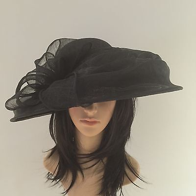Peter Bettley Black Wedding Occasion Hat Formal Mother Of The Bride