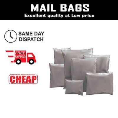 Grey Strong Mailing Parcel Postage Bags Plastic Post Poly Bags Self Seal Mail