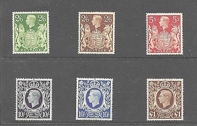 1939-48 The Alms High Values 2/6-£1.00 6 Stamps Unmounted Mint Mnh Perfect