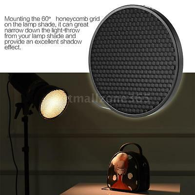 Beauty Dish 16.8cm 60°Honeycomb Grid Bowens Mount Reflector for Lamp Shade V4B0