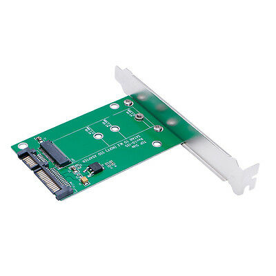 7+15pin M.2 (NGFF) SSD to SATA III Converter Adapter w/ Bracket Flash Drive Card