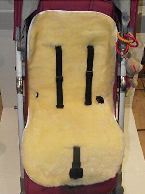 Sheepskin Baby Pushcar Buggy Liner - 100% Genuine Australian Sheepskin Quality
