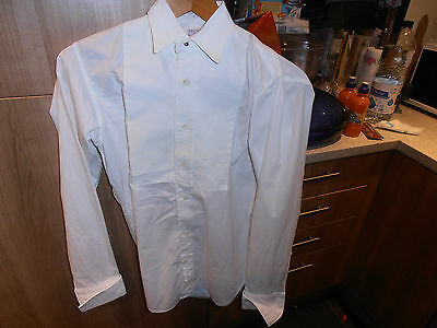 "1950s Hope Bros Solus  Collarless Marcella Dress Shirt sz 14""Cw  Marcella Collar"