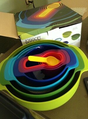 Joseph Joseph Nest 8 Plus Mixing Bowls, 8 Piece Bakeware Mixing BOWL SET