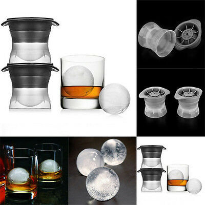 Fashion 2.5'' Round Ball Ice Tray Big Sphere Ice Molds Cocktails Whiskey Scotch
