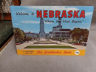 Welcome to Nebraska, Where the West Begins- 1960's Souvenir Booklet -complete