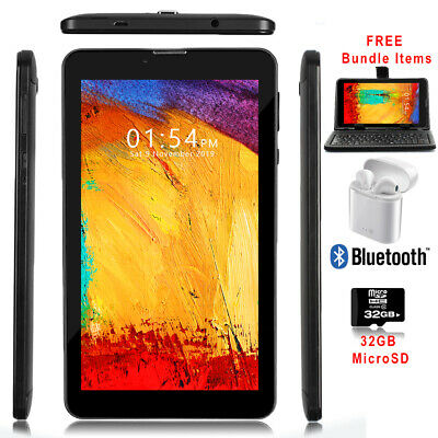 "UNLOCKED 7"" 3G Tablet&Phone  Android 4.4 Built-in SmartCover + Bundle Included"