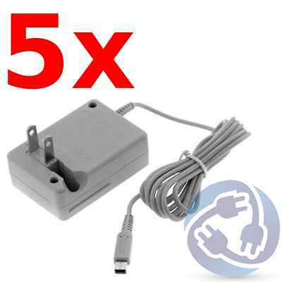 Lot 5x Nintendo DSi NDSI 3DS XL AC Adapter Home Wall Power Supply Charger