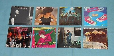 vtg CHU-BOPS lot x8 sealed bubble gum records The Knack Foghat Blue Oyster Cult