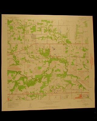 Euless Texas vintage 1960 original USGS Topographical chart