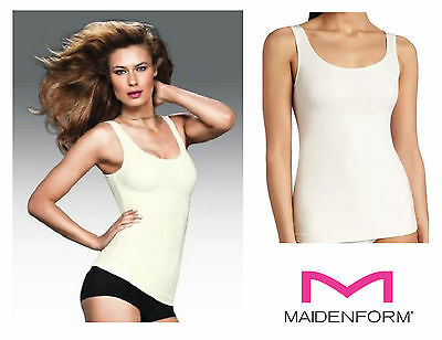 Maidenform Firm Control Fat Free Dressing Vest Top 4266 Ivory New Shapwear