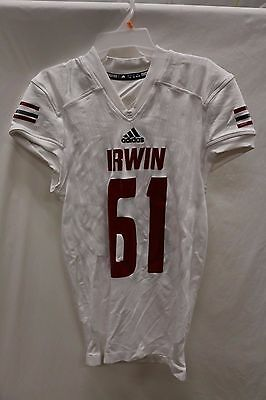 Men's TechFit adidas Authentic Jersey Irwin County White XL 2XL #61 #69 A15