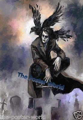 Brandon Lee The Crow Watercolour Picture Poster Home Art Print / Wall Decor New
