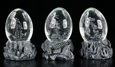 Dragon in Eggs - Snow ball 3 Pieces Set - Decode Characters Dragon Egg Statue