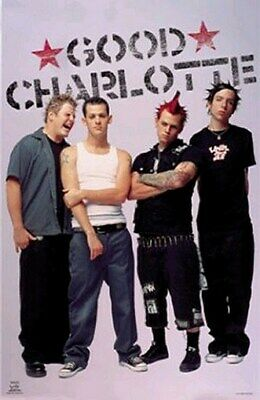 Good Charlotte Poster - Group Shot - Rare New - Print Image Photo
