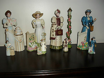 4 Sets of Mrs Albee Figurines