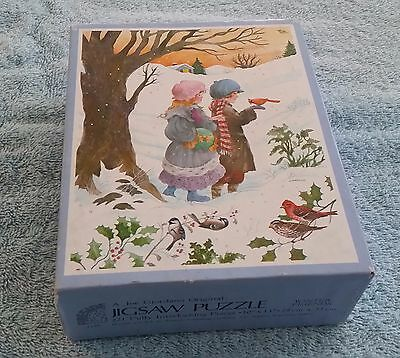 Vintage Fireside Jigsaw Puzzle Winter Friends 7329 Joe Giordano Sealed.