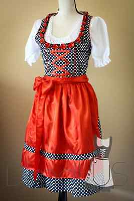 SALE! Dirndl Embroidered Oktoberfest Dress German Austrian Bavarian Beer Wench