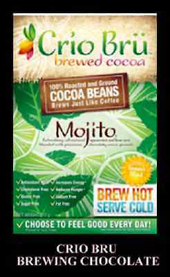 BNIP CRIO BRU Brewing Chocolate MOJITO Blend 340g Roasted COCOA SUPERFOOD