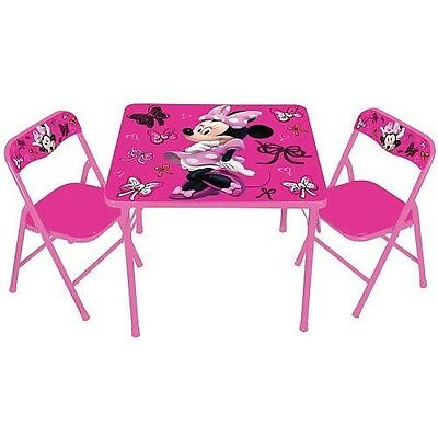 Kids Only Disney Minnie Mouse First Fashionista Kids Activity Table Set with Cha