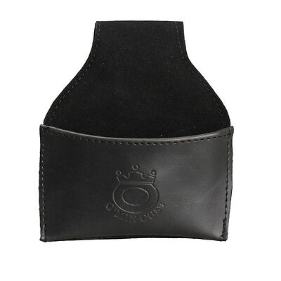 New Faux Leather Chalk Holder Pouch with Clip Pool Billiards Snooker Cue Black